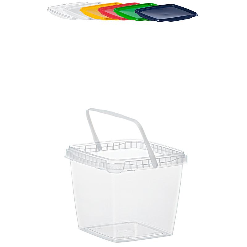 10 x 10,9 Liter Eimer mit Deckel transparent Plastikeimer Top Qualität
